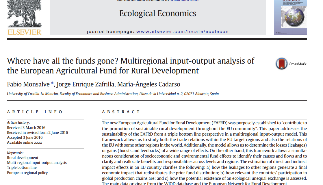 New publication in EcolEcon