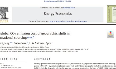 NEW PUBLICATION IN ENERGY ECONOMICS