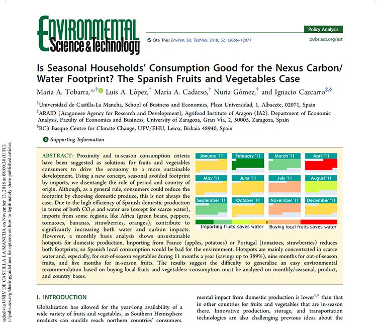 New publication in Environmental Science & Technology