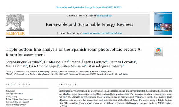 NEW PUBLICATION IN RENEWABLE & SUSTAINABLE ENERGY REVIEWS