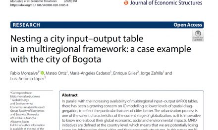 NEW PUBLICATION IN THE JOURNAL OF ECONOMIC STRUCTURES