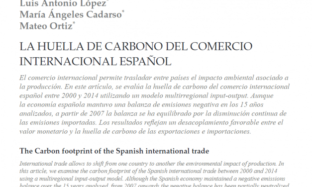 NEW PUBLICATION IN THE SPANISH JOURNAL ICE, JOURNAL OF ECONOMICS